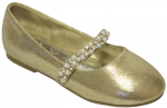 GIRLS BALLERINAS (2242445) GOLD SATIN